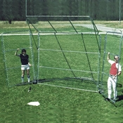 Portable Baseball Backstop with Top & Sides