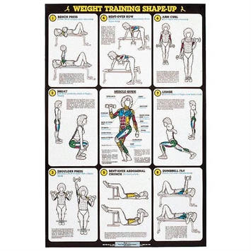 Self Instruction Weight Training Poster Weight