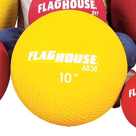 FLAGHOUSE 10'' Playground Ball - Red