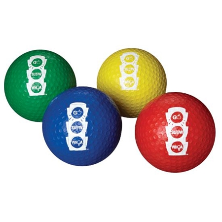 CATCH� Go Slow Whoa Dimpled Cover Playground Balls - 7'' - Set of 4