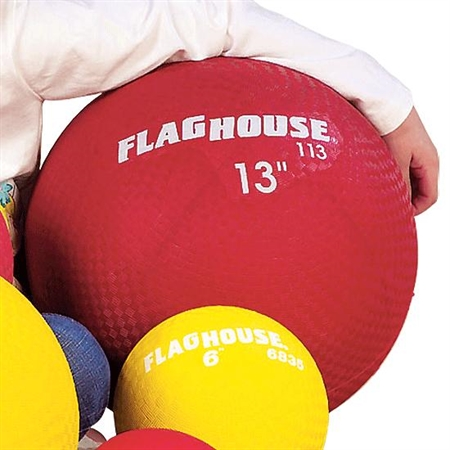 FLAGHOUSE 13'' Playground Ball - Red