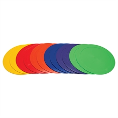 "Spot Marker Set - 9"" Round - 6 Colors - Dz"