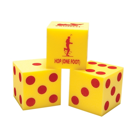 Foam Fitness Dice Set