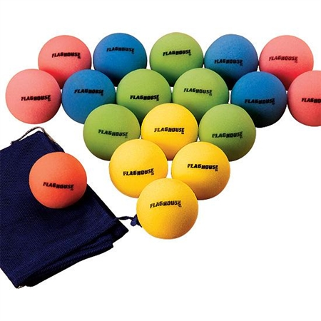 FLAGHOUSE 4'' COLOR - BRITE Uncoated Play Ball Set