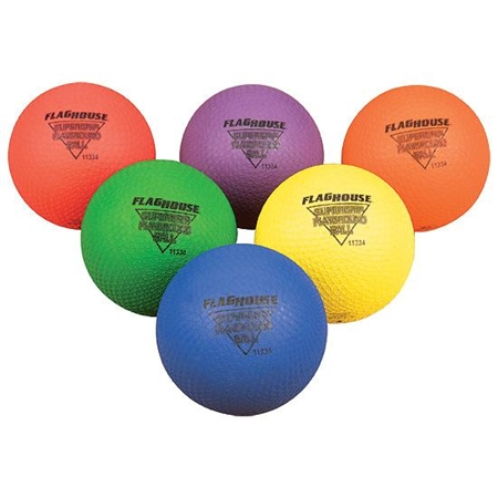 "FLYING COLORS® SUPERGRIP 7"" Playground Ball - Set of 6"