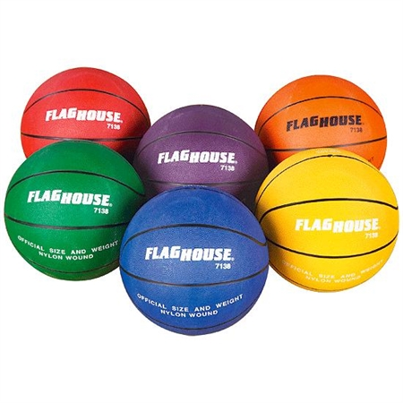 Flying Colors® Rubber Basketball Set - #5