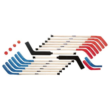 SHIELD Middle School Wooden Hockey Set