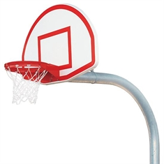 Bison® Complete Outdoor Basketball System - 5 9/16'' Mega-Duty System - 36''x54'' Backboard