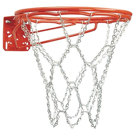 BISON Double - Rim - Front Mount Basketball Goal - Chain Net