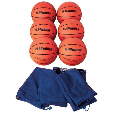 FLAGHOUSE Active Series Rubber Basketball Set - #6