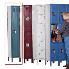 Single - Tier Lockers - Unass. - 3 Openings - 12'' x 12'' x 72''
