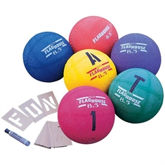 FlagHouse Playground Balls In Colors Set - 10''