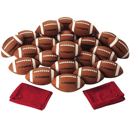 FLAGHOUSE Youth Size Rubber Football Super Set