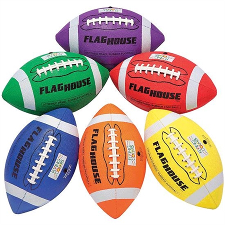 FLYING COLORS� 4 - Panel Stitched Youth Size Rubber Football Set