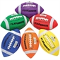 Flying Colors® 4-Panel Stitched Youth Size Rubber Football Set - Thumbnail 1