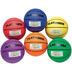 Flying Colors® Extra-Grip Rubber Basketball Set - #7