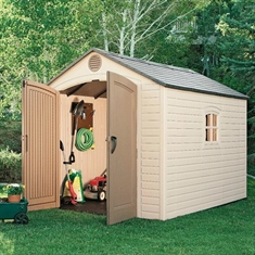 LIFETIME® Outdoor Storage Shed with Windows - 8' x 7 1/2'