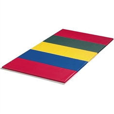 FlagHouse 2' Panel 2 3/8'' - Thick Rainbow Instructor Mat - 4 Side Hook & Loop - 4' x 6'