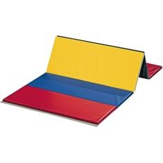 FlagHouse 2' Panel Polyethylene PE Rainbow Mat - 4 Side Hook & Loop - 5' x 10'
