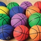 Basketballs in Color - Rubber - Men's - Size 7 - Thumbnail 1