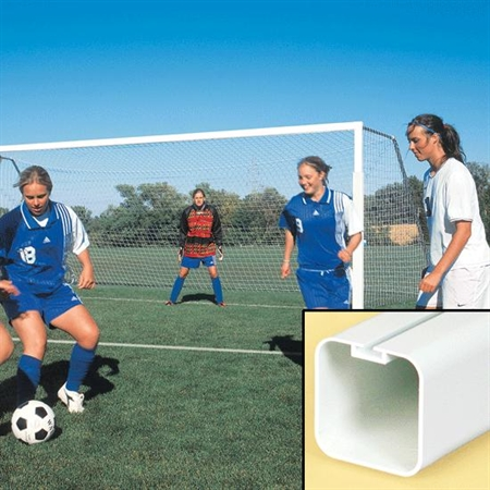 BISON� ShootoutT 4' Square Portable Aluminum Goals Complete Package