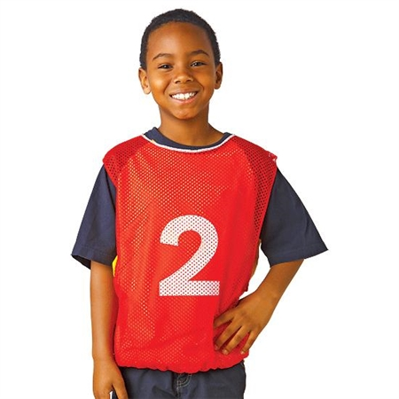 Numbered Youth Size Intramural Vests - Set of 15