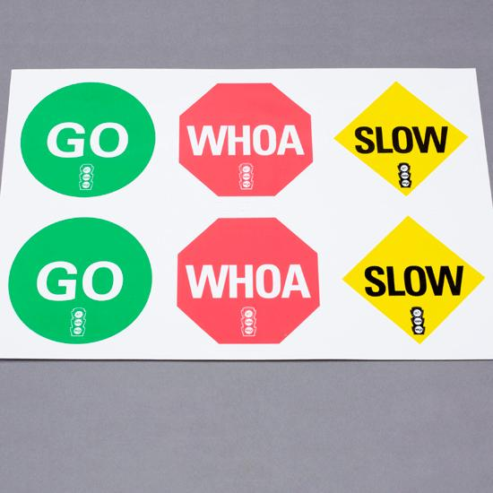"CATCH® Go Slow Whoa® Vinyl ""Cling Ons"" 
