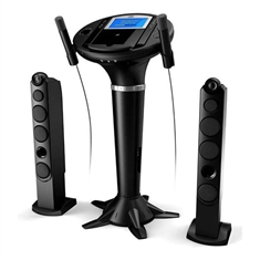 Pedestal Karaoke System with Monitor, Video Camera, and iPod® Dock
