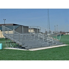 Non-Elevated 10 Row 27' Long Steel Angle Frame Bleacher