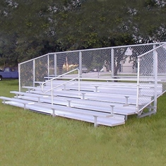 Semi - Enclosed Bleachers - 5 Rows - 21'
