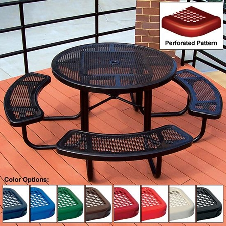 ADA Square Table - Perforated - 3 - Seat 46""