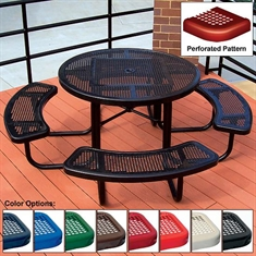 Round Table - Perforated - 46""