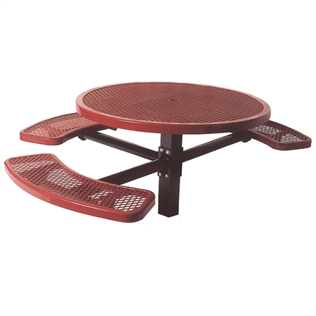 Single Pedestal Table - Perforated - 46' Round