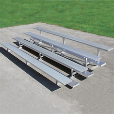 "Low Rise Universal Bleachers with 10"" seat- 4 Rows - 21'"