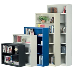 "All-Welded Steel Bookcase - 3 Shelves - 34 1/2"" x 12"" x 52"""