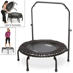 "Fitness Trampoline – 37"" with Safety Handlebar"
