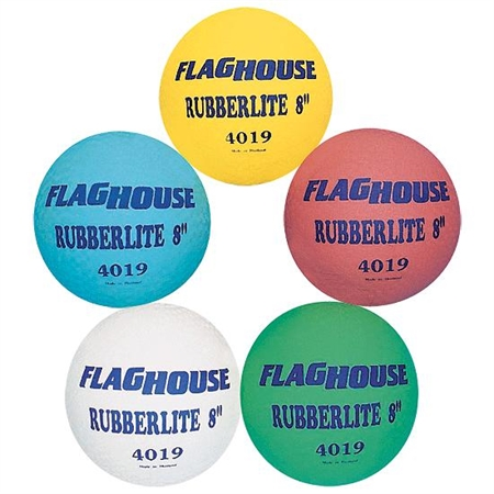 FLAGHOUSE RUBBERLITET 8'' Playground Ball Set