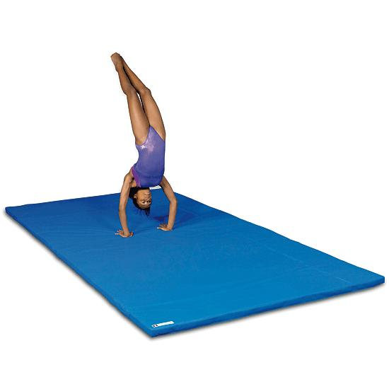 gym sportinggoods tumbling home blue for exercise mat fitness mats folding sportmad gymnastics thick panel exer