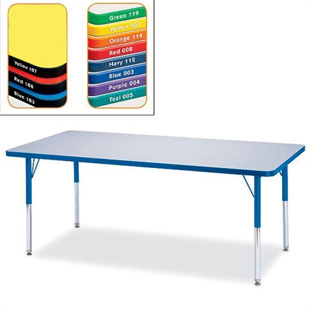 Rectangle Activity Table - Rainbow Accent Top 30'x48'