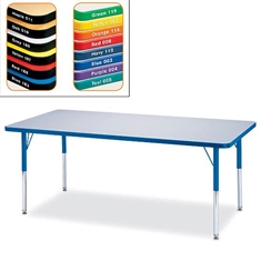"Rectangle Activity Table – Rainbow Accent Top 30""x72"""