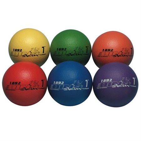 "Dino Skin™ Colored Foam Balls -  7""DIA - Set of 6"