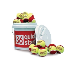 Quick Start 36 Set of 30 Tennis Balls with Bucket
