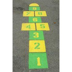 Peaceful Playgrounds™ Hopscotch Stencil