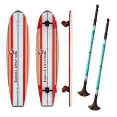 "44"" Longboard and Landpaddle Set"