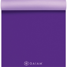 Gaiam Premium Yoga Mat - 2 Color 5mm Purple Jam