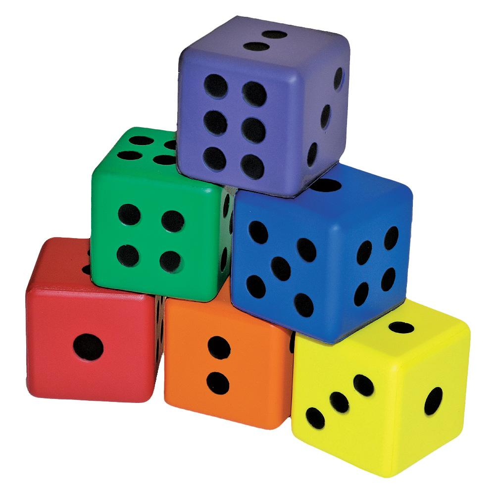 Colored Dice Set Of 6 Flaghouse
