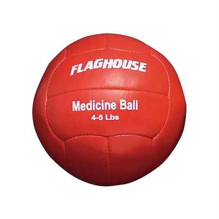 FLAGHOUSE Synthetic Leather Medicine Ball - 4 - 5 lbs
