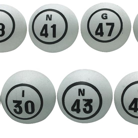Celluloid Bingo Ball Set - Special Needs Therapy Bingo Games