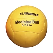 FLAGHOUSE Synthetic Leather Medicine Ball - 6 - 7 lbs