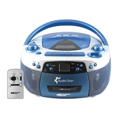Audio Star Boombox Radio/CD/USB/Cassette Player